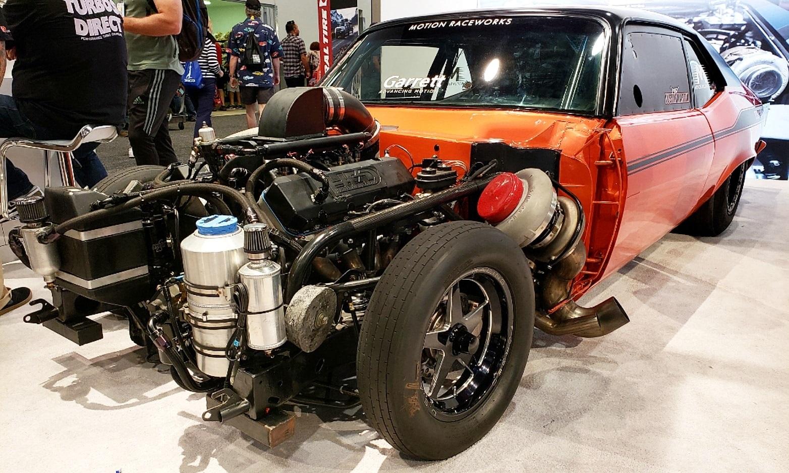 Garrett 4000hp - 1972 Limited Drag Radial Chevy Nova at SEMA