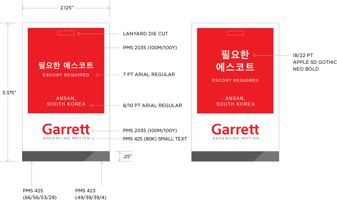Employee Badges - Garrett