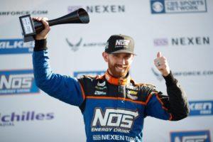 Chris Forsberg takes the podium in the Formula Drift series.
