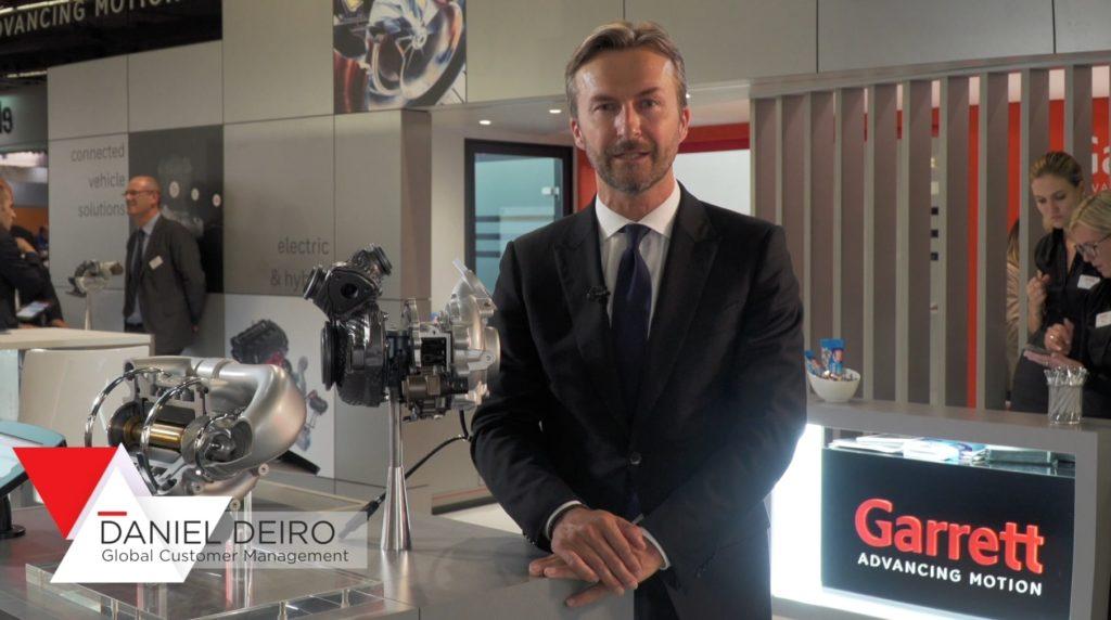 IAA 2019 - Daniel Deiro - Global Customer Management Garrett Motion Inc, presenting at Frankfurt Motorshow innovations for customers, media and numerous industry professionals